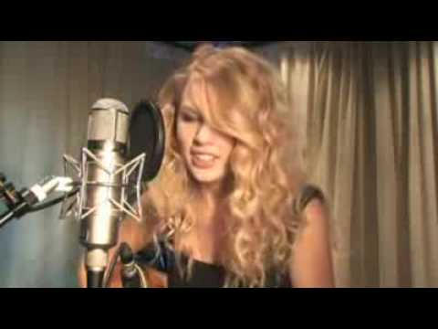 Taylor Swift singing tim mcgraw live acoustic