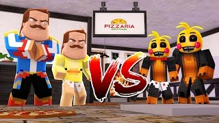 Minecraft - CHICA FNAF Vs HELLO NEIGHBOR - Little Club Baby Max - w/ Little Donny, Modded mini game