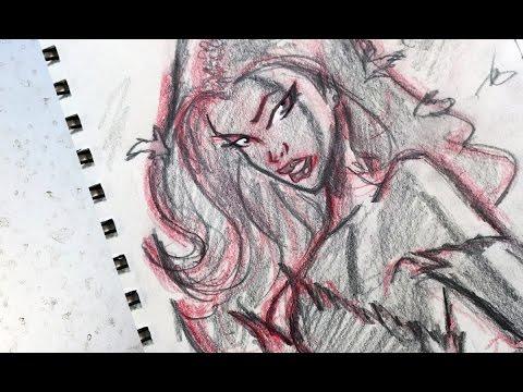 Warm-Up Sketch: Poison Ivy