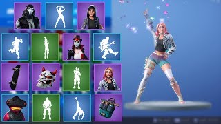 Fortnite - All v9.10 Skins & Emotes! (Fishstick VR, Basketball, Guitar Walk...)