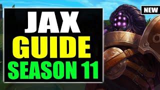 HOW TO PLAY JĄX TOP SEASON 11 | Jax Gameplay Guide S11 (Best Build, Runes, Playstyle)