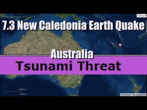 Tsunami Threat for Australia after 7.3 Earthquake in New Caledonia