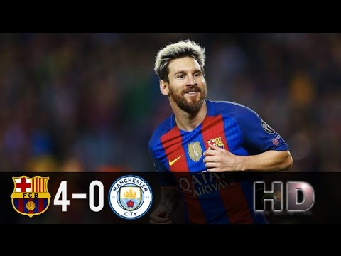 FC Barcelona vs Manchester City 4-0 All Goals & Highlights HD Champions League 2016