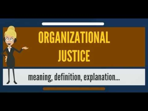 What is ORGANIZATIONAL JUSTICE? What does ORGANIZATIONAL JUSTICE mean?