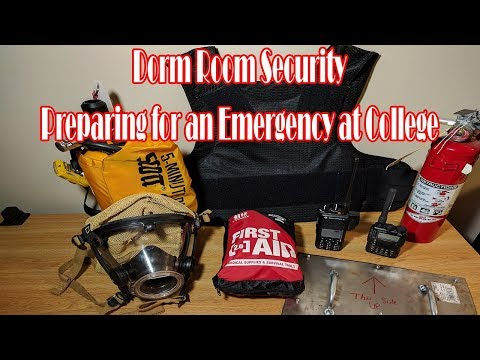 Dorm Room Security - Preparing for an Emergency at College