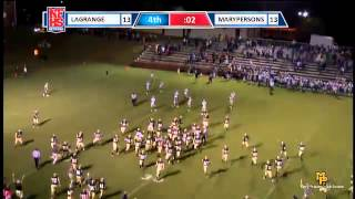 #94 Alex Rivera of Mary Persons kicks a 37yd FG for the win