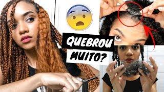 COMO O CABELO REALMENTE FICA DEPOIS DE TIRAR AS TRANÇAS?! Carol Soares