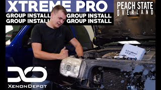 Xenon Depot Meets Peach State Overland   4Runner HID and LED Install