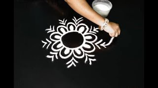 freehand creative muggulu designs || easy & simple rangoli || friday muggulu designs