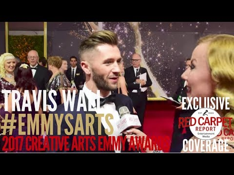 Travis Wall interviewed at the 2017 Creative Arts Emmys Red Carpet #EmmysArts