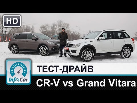 Honda CR-V 2.4 vs. Suzuki Grand Vitara 2.4 - тест-сравнение от InfoCar.ua