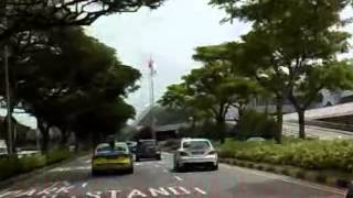 Road to Changi Airport, Singapore by Cab