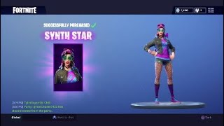 Fortnite new synth star skin yeah i bought it v11