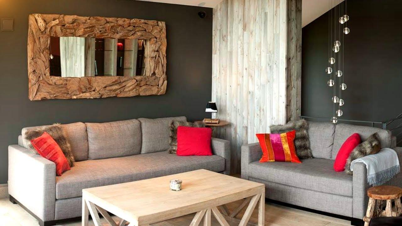 Brilliant Rustic Living Room 35 Interior Design Ideas Youtube