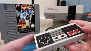 Back To The Future for Nintendo Entertainment System - My First Time & Review of Retro NES Cartridge