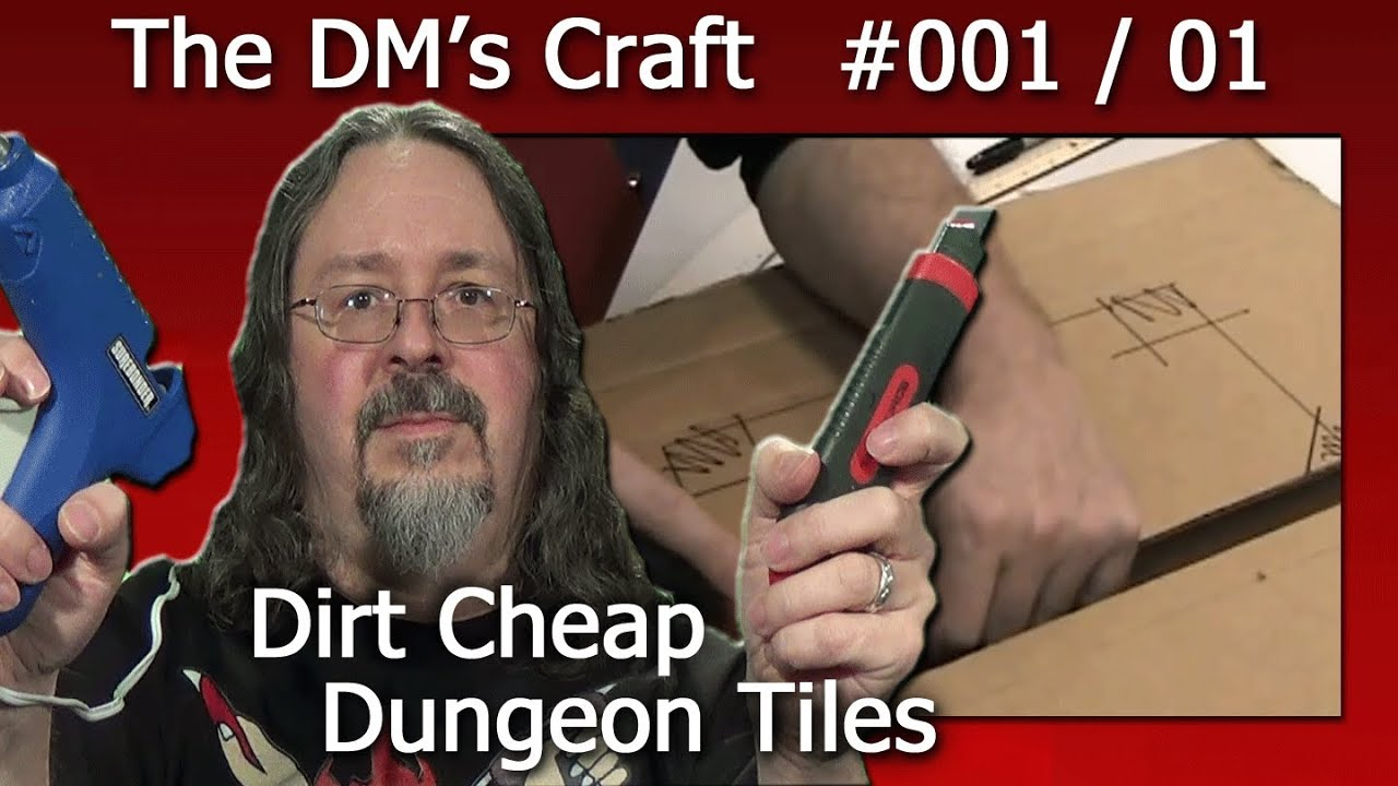 Craft your own dungeon tiles quickly and cheaply for DD