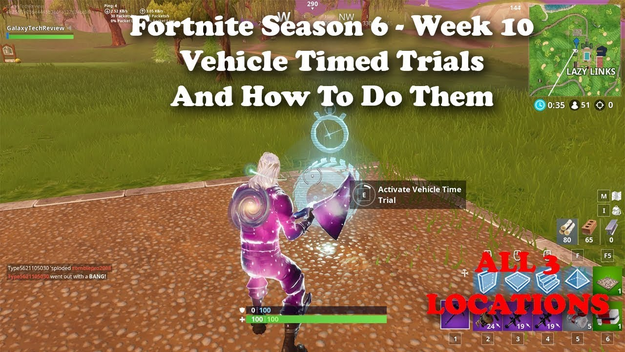 Fortnite Season 6 Week 10 Vehicle Timed Trials Locations And How