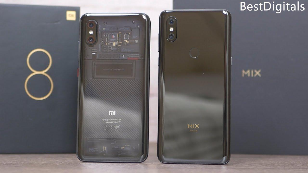 Xiaomi Mi Mix 3 and Xiaomi Mi 8 Pro - Comparison