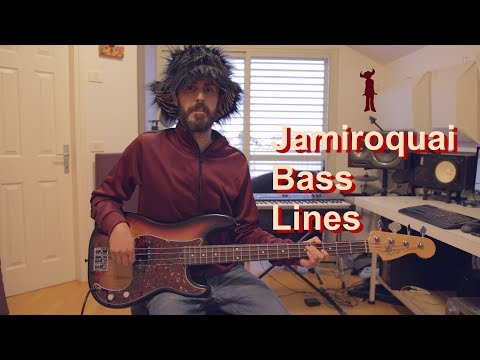 Jamiroquai - 6 Classic Bass Lines // Bass Cover