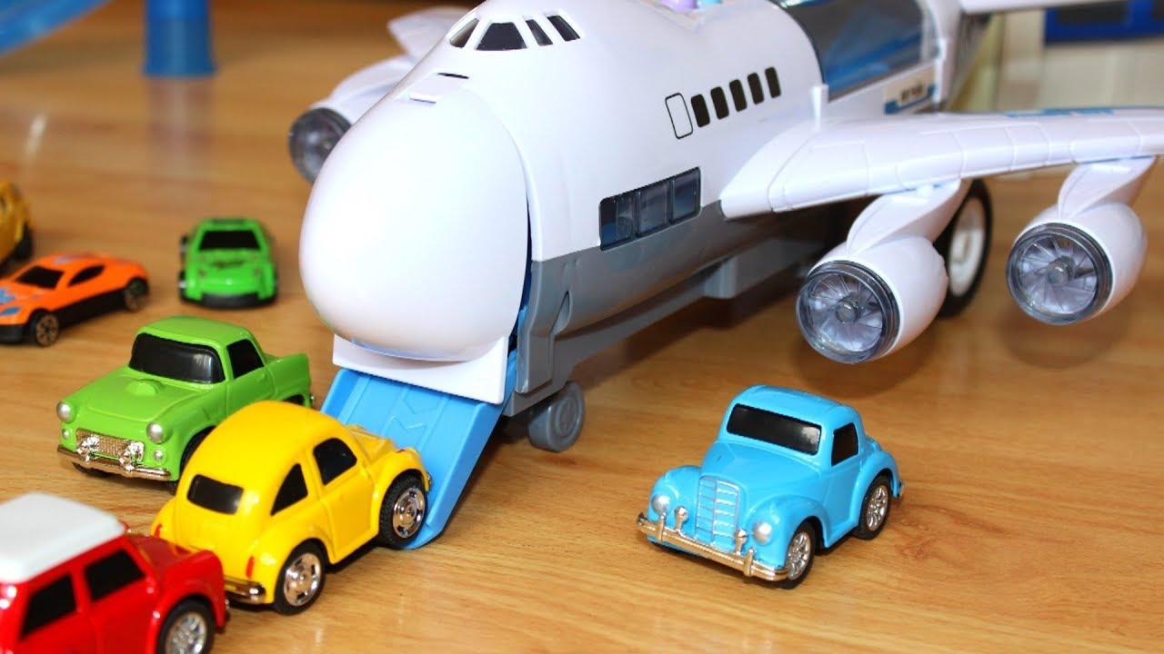 Самолет мультик Играем в самолет и в машинки игрушки для детей