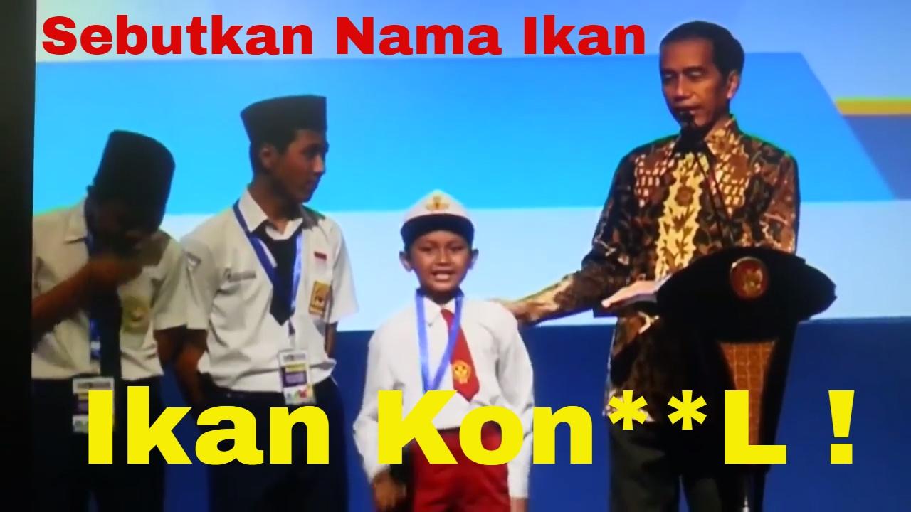 MGAKAK Salah Sebut Ikan Tongkol Di Depan Presiden Jokowi