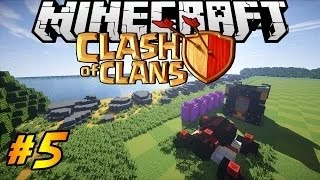 Let 39 s Build Clash of Clans in Minecraft PART 5 Archer Towers Walls