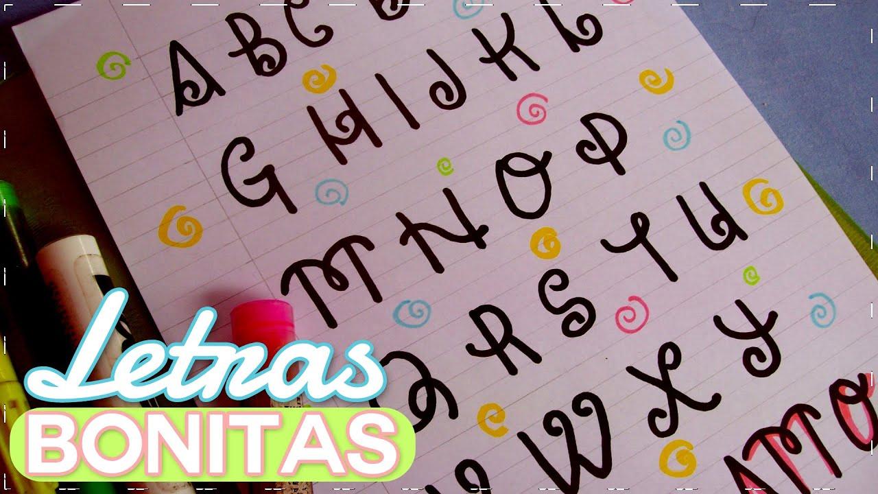 Letras bonitas tutorial youtube - Literas bonitas ...