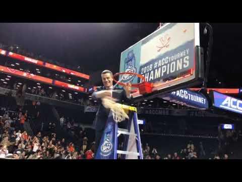 2018 ACC Tournament: Virginia's Tony Bennett cuts down the nets