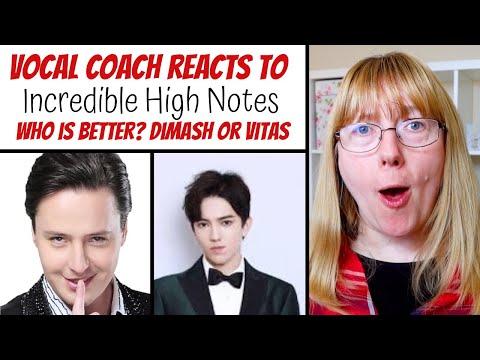 Vocal Coach Reacts to Dimash & Vitas 'Incredible high notes'