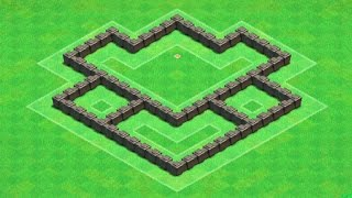 Clash of Clans - BEST Town Hall 4 Hybrid Base Design Layout (TH4)
