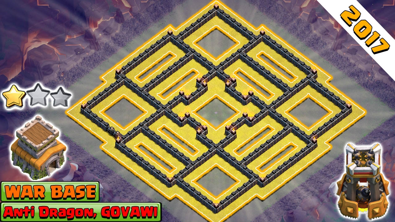 Clash Of Clans 2017 New Th8 War Base Anti 2 And 3 Star Th8 War Base Anti Everything Youtube