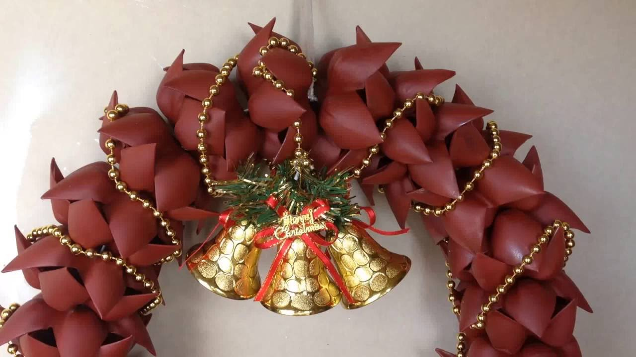 How to Make Christmas Wreath ( Door Decoration ) from ...