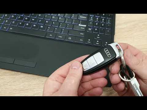 How to replace battery in AUDI key - A6 2019 C8, key batteries replacement DIY