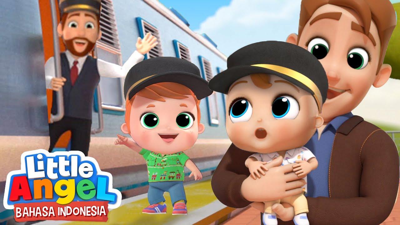 Wah Keren Sekali Keretanya! 🚂 Kartun Anak | Little Angel Bahasa Indonesia