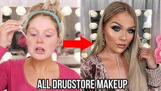 GLAM MAKEUP TRANSFORMATION USING ALL DRUGSTORE MAKEUP   KELLY STRACK