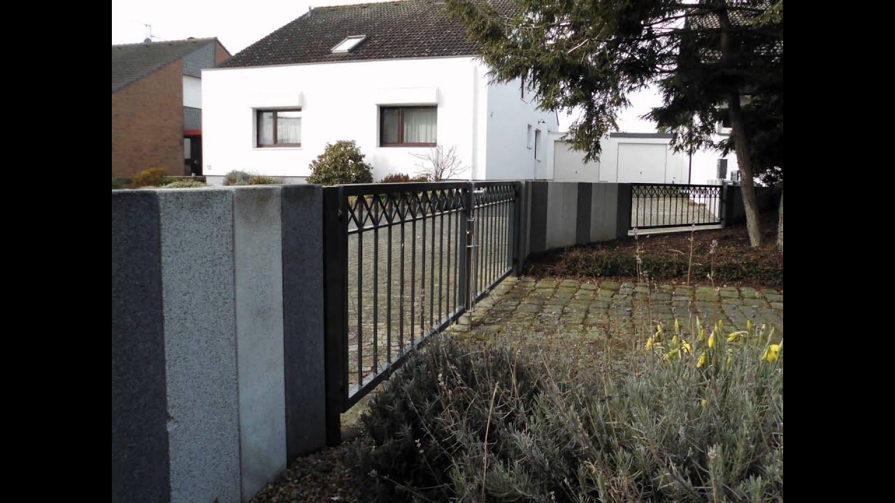 Gartenzaun in Stahl und Pulverbeschichtet