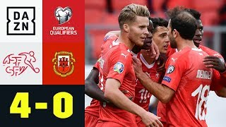 Die Schweiz gewinnt und stellt Rekord auf: Schweiz - Gibraltar 4:0 | EM-Quali | DAZN Highlights