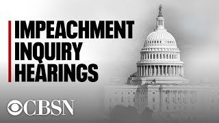 Impeachment hearings live: Public testimony from Volker, Vindman, Williams & Morrison