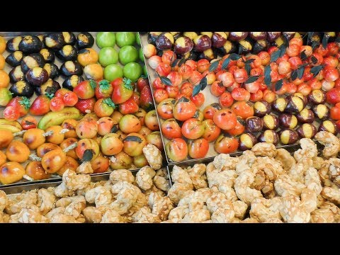 Traditional Sweets from Sicily, Italy. Italian Street Food
