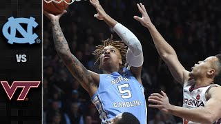 North Carolina vs. Virginia Tech Men's Basketball Highlights (2019-20)