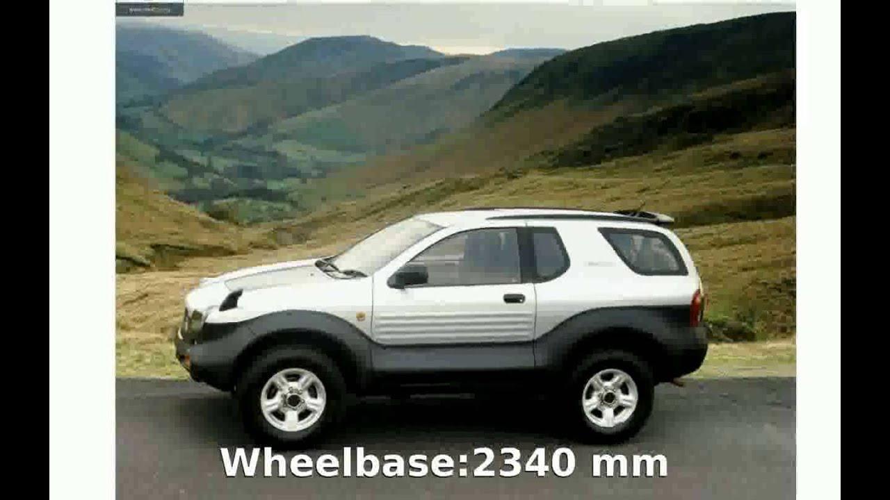2002 Isuzu Vehicross Top Sd Features Details Info Equipment Specification