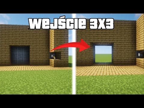 Minecraft: Poradnik Jak Zrobić Drzwi 3x3! Łatwy I Szybki Poradnik