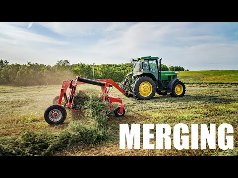 My First Time Merging Hay | KUHN Merge Maxx MM 300