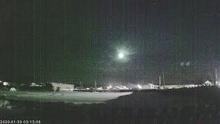 Падение метеора на Урале