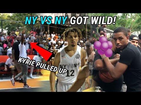 Kyrie Irving & Tekashi Watch Cole Anthony SHOW OUT At Rucker Park! Isaiah Washington Back In Harlem!