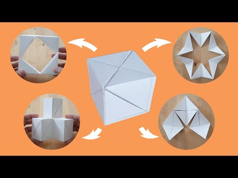 Transforming Infinity Cube out of Paper.