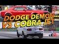 Dodge Demon vs 2012 Mustang Cobra Jet