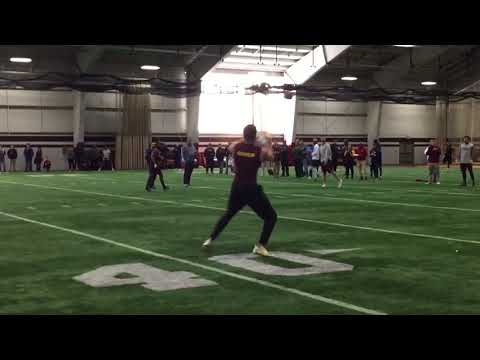 Receiver Mark Chapman Central Michigan pro day