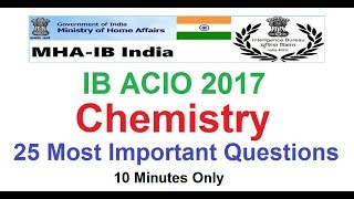 IB ACIO 2017 || 25 Most Important Chemistry Questions
