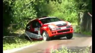 wypadki rajdowe w polsce , kraksy   crash car raid wrc